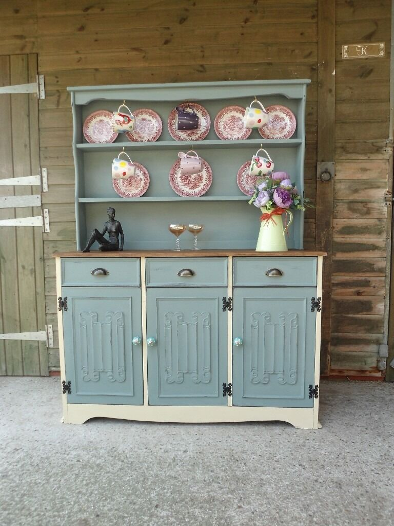 Old Charm Style Welsh Farmhouse Country Dresser Display