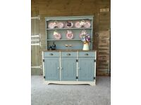 Old Charm Style Welsh Farmhouse Country Dresser / Display Cabinet