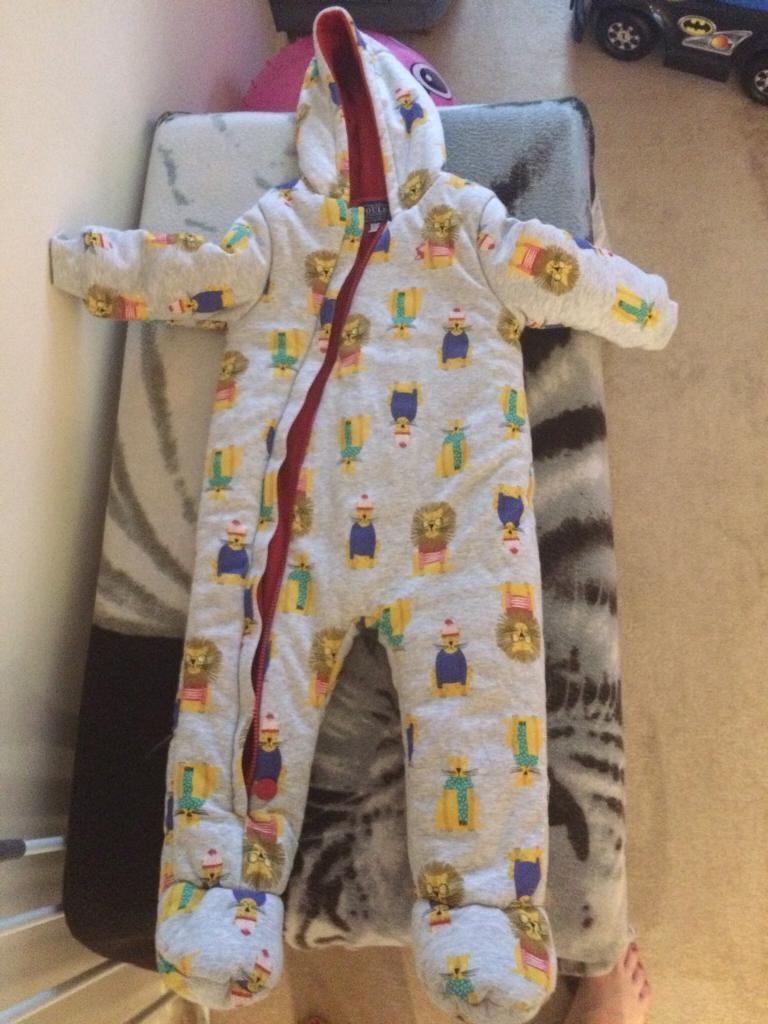 06ee86e40 Joules lion snow cosy suit 18-24 months