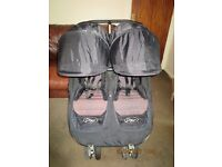 BABY JOGGER CITY MINI DOUBLE PUSHCHAIR & RAINCOVER TWIN BUGGY STROLLER
