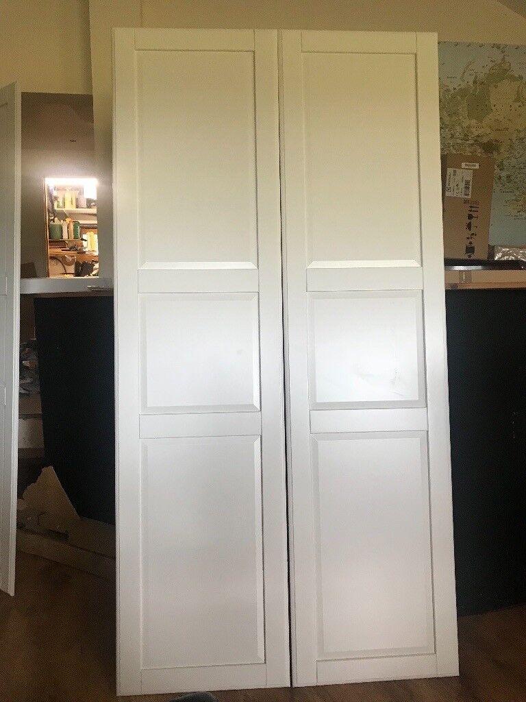 Bardzo dobry Ikea pax tyssedal wardrobe doors x2 195cm high | in Horley, Surrey QX52