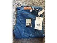 Brand New Blue Toxik 3 High Waisted Jeans - Size 14