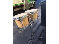 Bongo drums with quality extended stand in good order first to see will have a bargain.