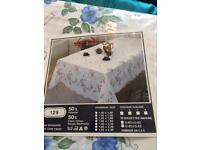 Blue floral table cloth brand new