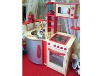 Wooden Kitchen with Accessories