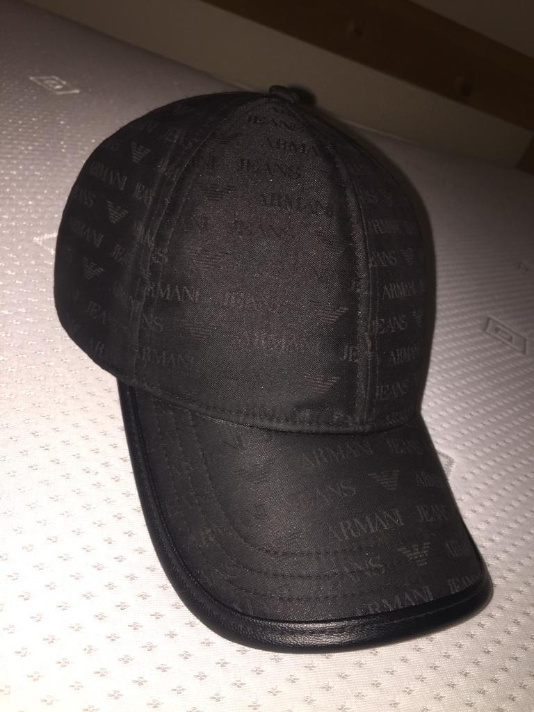 4097e9379f7 Armani jeans Leather Cap 100% authentic brand new