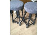 Bar stools upcycled