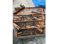 Various old carpenter tools