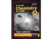A-level OCR chemistry textbook AS year 1