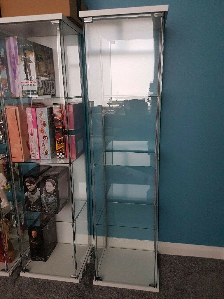 Ikea detolf glass display cabinet | in Middlesbrough, North ...