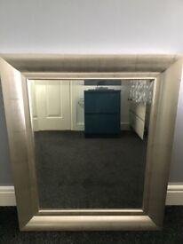 """Silver edged mirror 21.5""""x 25.5"""" £10"""