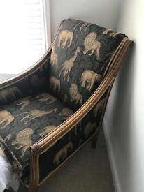 Amazing chair safari print