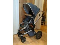 Joolz Day Pram with Baby Cot extension, Changing Bag, Rain Cover and Leather Handlebars