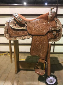 New Dale Chavez Show Saddle With Headstall 17""
