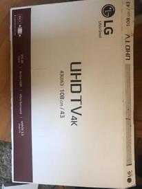 "LG 43"" smart 4k webos ultra sound led tv"