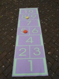 Quality Hopscotch Childrens Mat numbers game set play jump keep fit exercise bean bags Toys Games