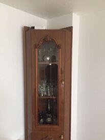 Corner display unit/cabinet/cupboard