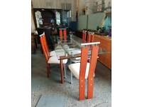 Modern dining table with6 chairs