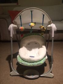 Chicco baby swing seat.
