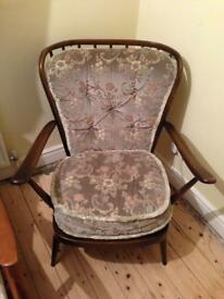 Vintage Ercol easy lounge armchair 477