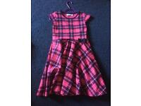 Pink and purple party dress size 8-9 years