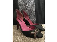 size 5 never worn tickled pink heels