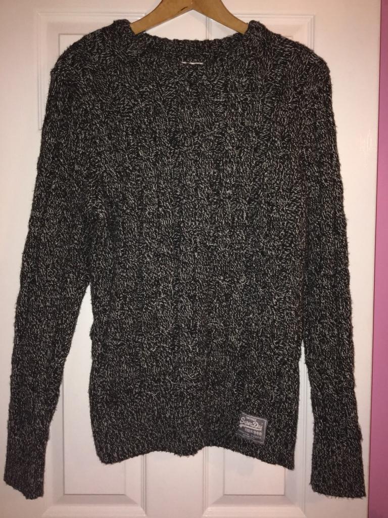 Grey Knit Superdry Jumper