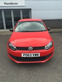 Volkswagen Polo 1.2, Red 2013 3 door 26,995 miles, Tax, MOT and service included.