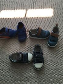 3 pairs of kids shoes, size 6F