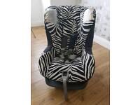 Britax car seat - zebra print