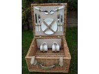 Wicker Picnic Hamper for 2 - unused
