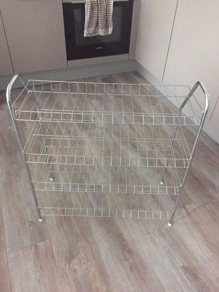 4-Shelf Wire Shoe Rack(silver)