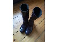 Beautiful deep purple girls Ricosta boots. In excellent condition. Size 2.5 euro 35