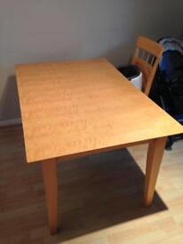 Beech Wood Extending Dining Table (free)