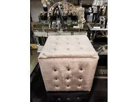 Light silver vanity chair
