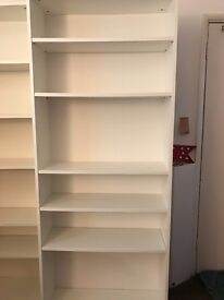 Lovely White IKEA Billy bookcase shelving storage - living room/study/bedroom