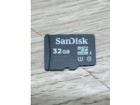 SANDISK 32GB MICRO SD CARD 80MBs CLASS 10