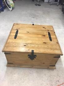 antique pine storage chest