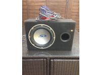 Alpine types s sub with alpine v-power amp