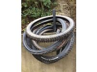 "26"" Maxxis mountain bike tyres Job Lot. Enduro. DH. Dirt Jump. XC. Cross Country. Hardtail. Kona."