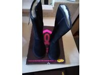 Ukala Sydney High Ladies Boots Size 3 Black Brand new with box