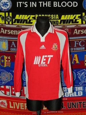 4/5 Portadown adults M 2002 rare long sleeves football shirt jersey trikot image