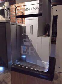 Mirrored Wedding Post Box Hire