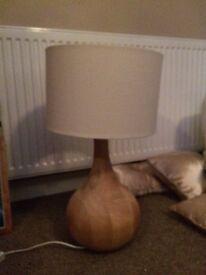 Large real wood lamp