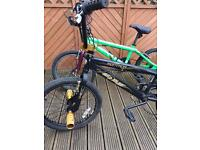 2 BMX BIKES FOR SALE. 1 MONTANA. Brakes front brakes need done and flat tyre.