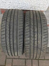 Pair of part worn Hancock tyres 195/50/R15