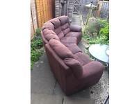 Brown Suede 5 Seater Corner Sofa
