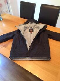 Boys black quicksilver jacket