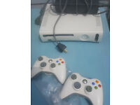 White Xbox360 with 20 games