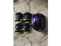 Kids helmet with knee & elbow pads
